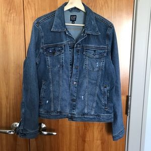 GAP denim jacket, slight distressing